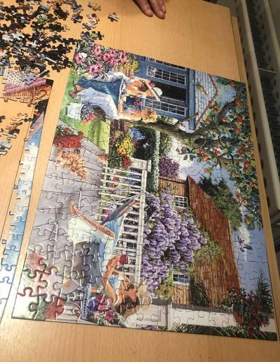 Enid's completed jigsaw