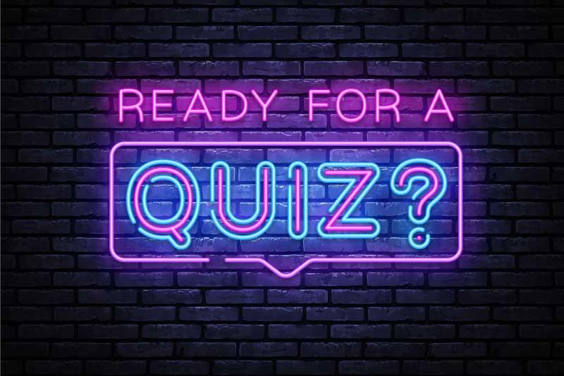 Quiz night neon sign